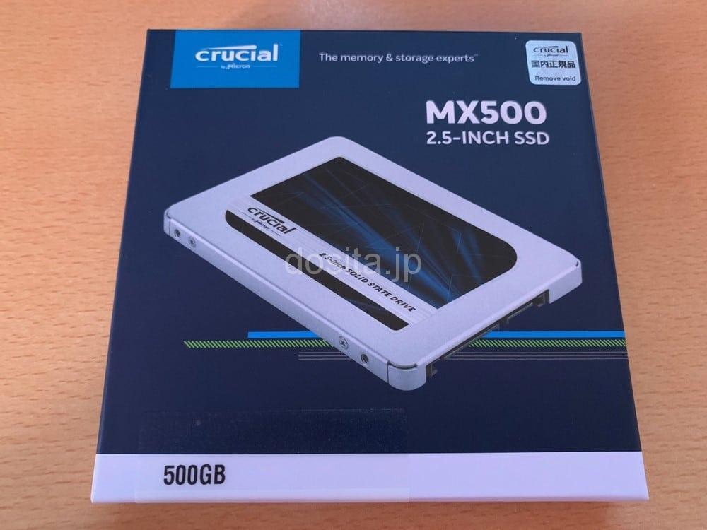 交換用に新しく購入したCrucialのSSD