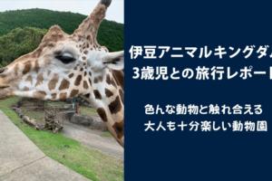 伊豆アニマルキングダムの歳児との旅行レポート
